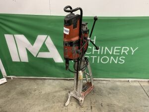 UNRESERVED Hilti DD200 110v Core Drill Rig c/w Hilti HD30 Core Drill Stand