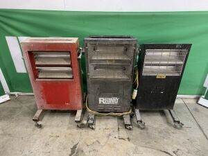 UNRESERVED 2 x Rhino & 2 x Infrared 110v Portable Heaters