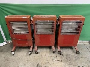 UNRESERVED 3 x Infrared 110v Portable Heaters