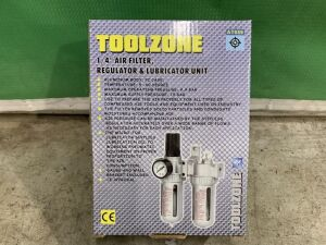 Toolzone Air Filter, Regulator & Lubricator Unit